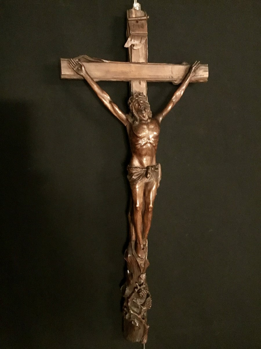 Christ In Wood XXth Century Trench Work