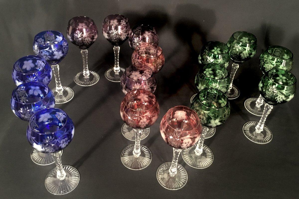 Cristallerie Lorraine Série De 17 Verres
