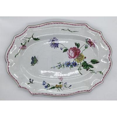 Large Earthenware Dish From Marseille Veuve Perrin