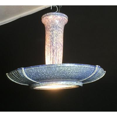 Art Deco Earthenware Ceiling Lamp