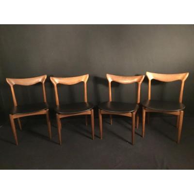 Set Of 4 Scandinavian Bramin Chairs