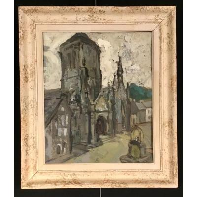 Painting Of The Church Of Locronan