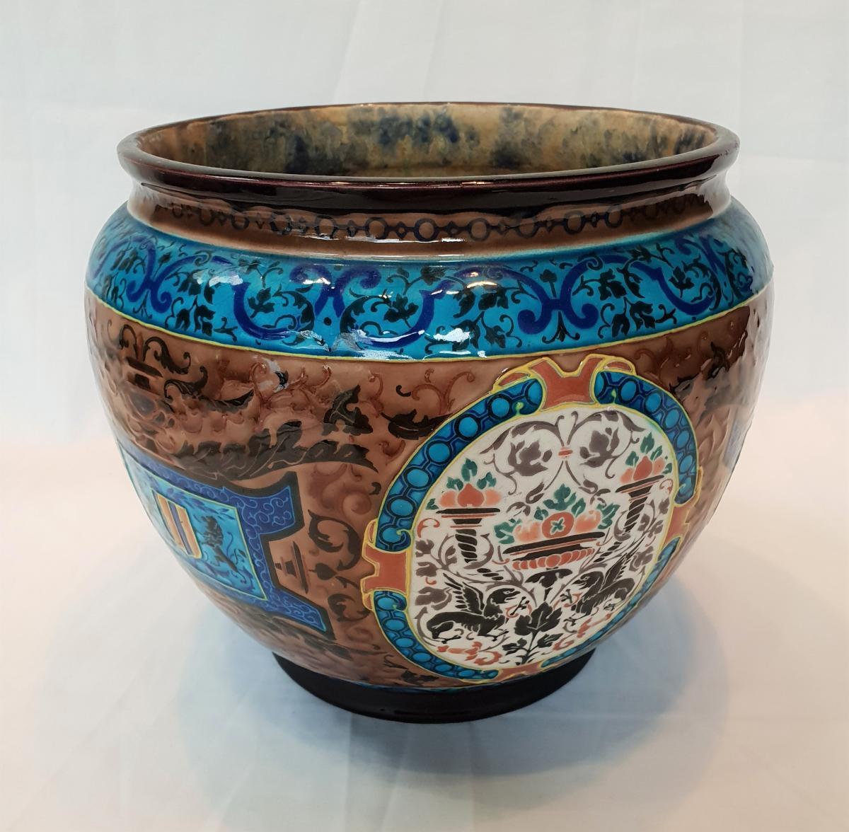 Cache Old Pot Bordeaux, Enamels Caranza 1880