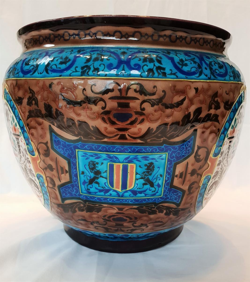 Cache Old Pot Bordeaux, Enamels Caranza 1880-photo-2
