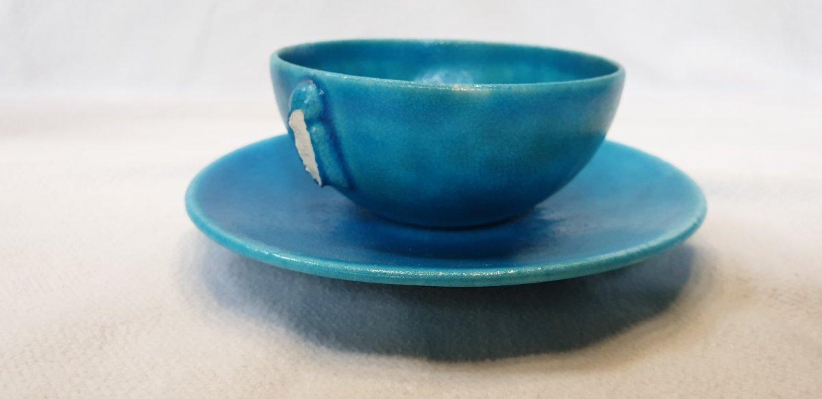 Edmond Lachenal :   Service à thé Papillon -photo-2