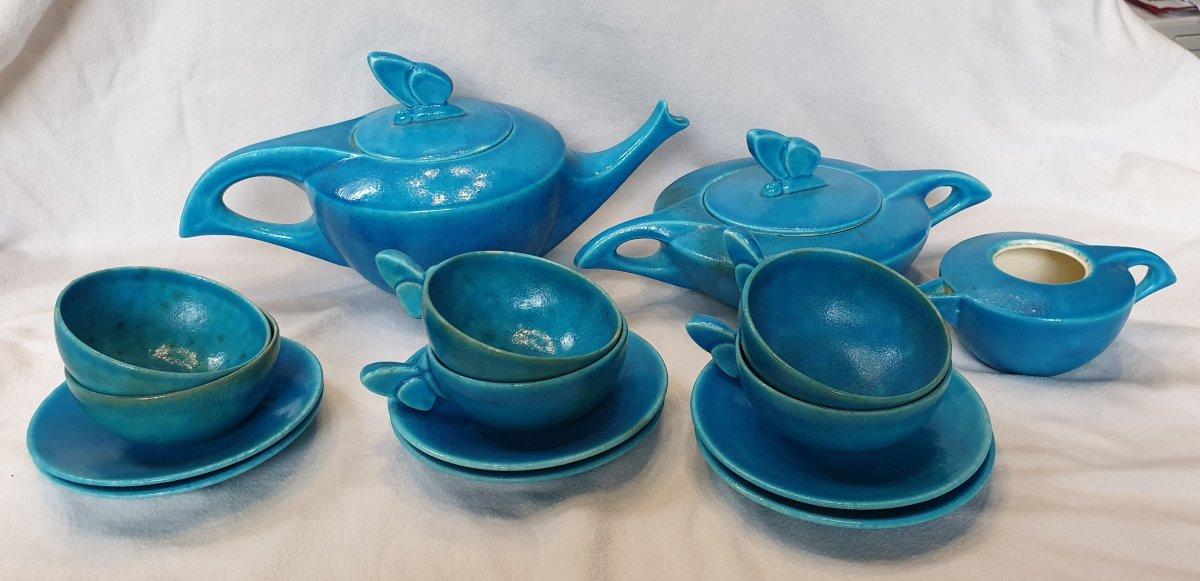 Edmond Lachenal: Butterfly Tea Set
