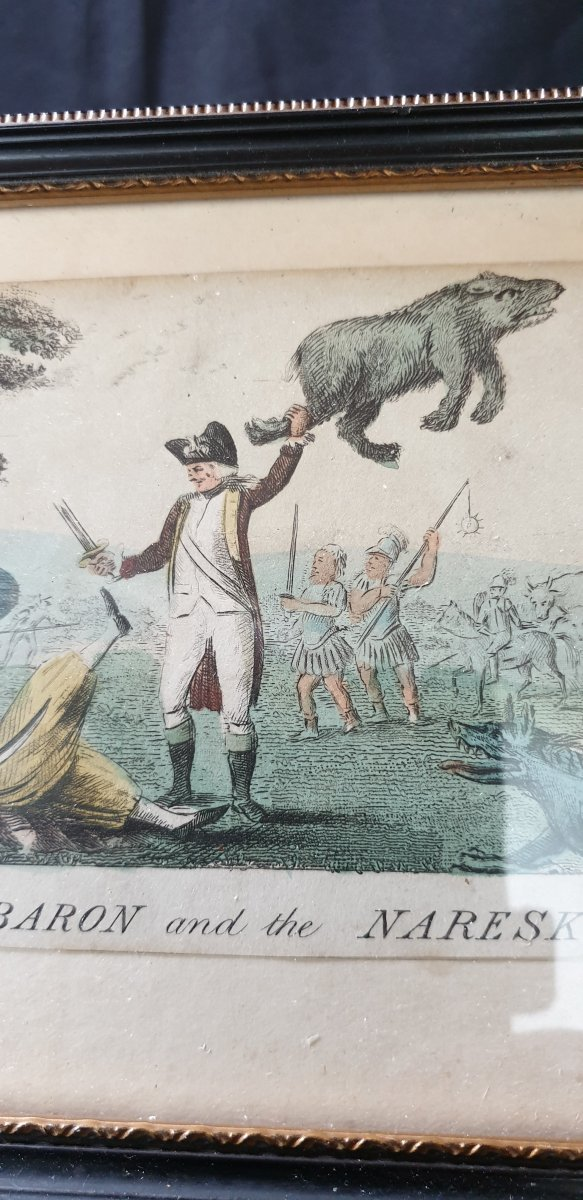 The Baron And The Nareskin , Gravure Colorisée 1793-photo-2