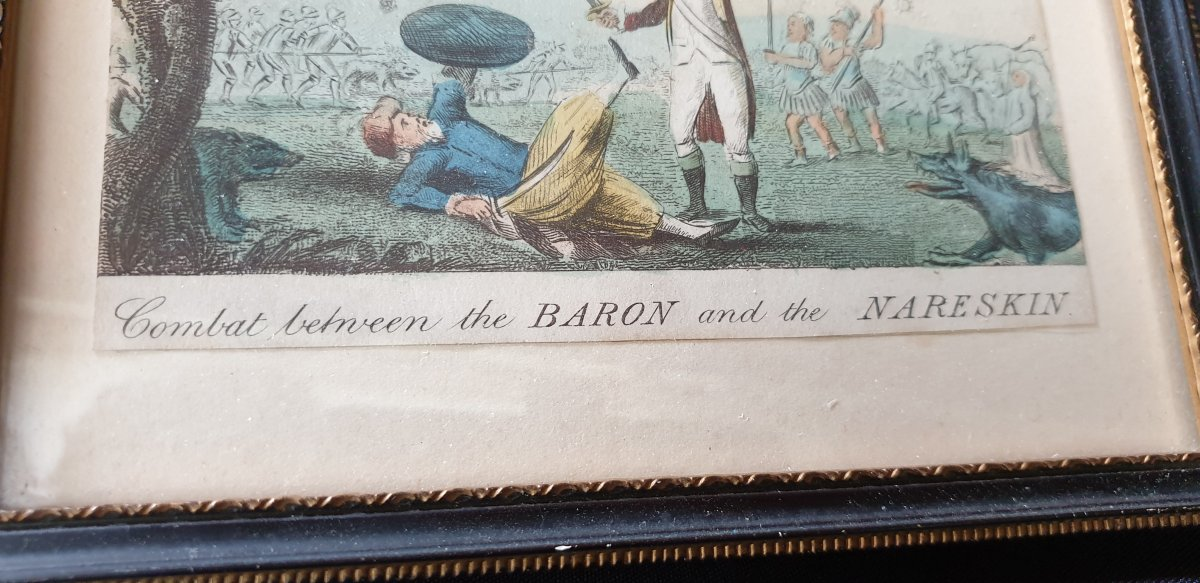 The Baron And The Nareskin , Gravure Colorisée 1793-photo-4