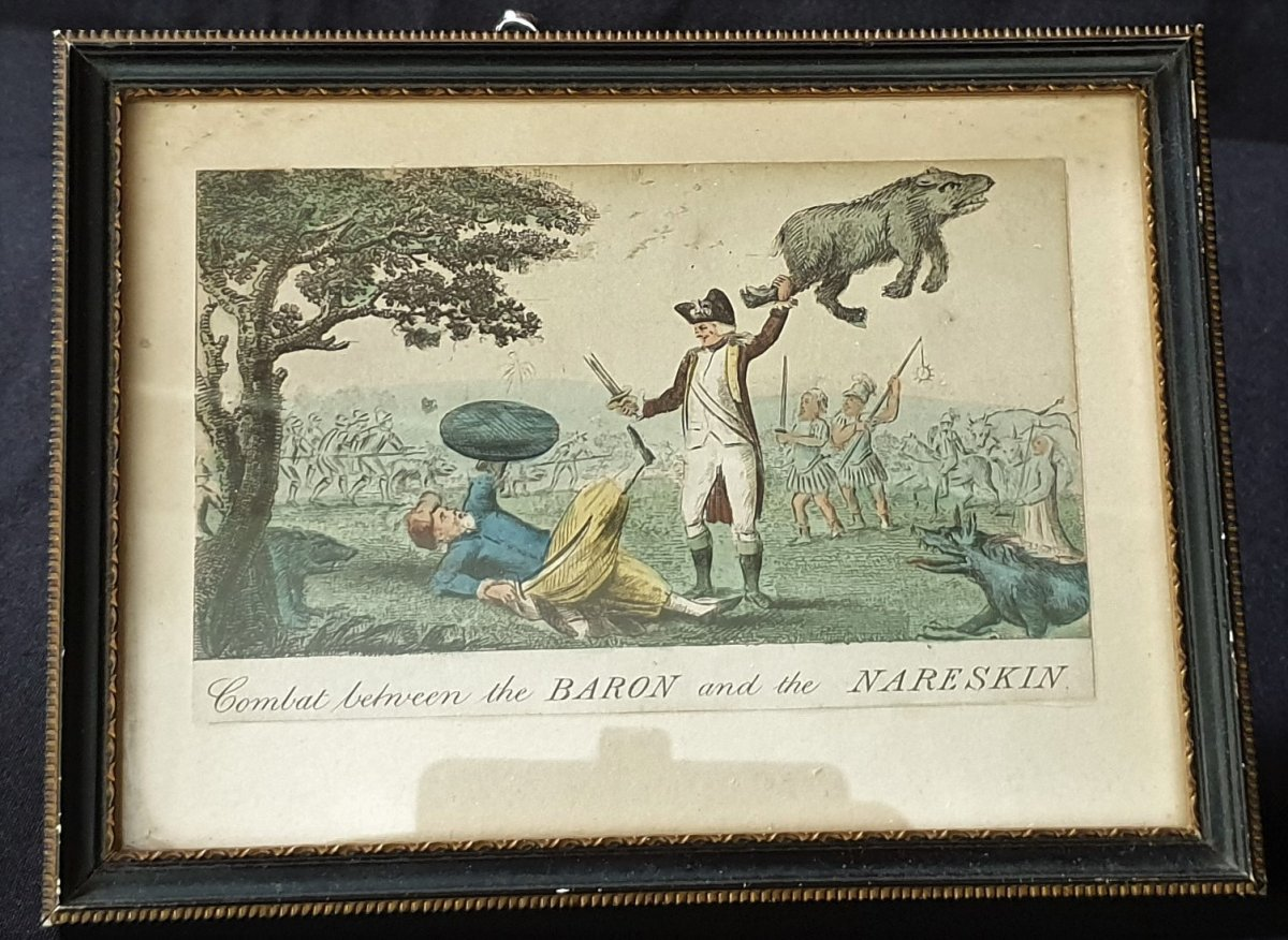 The Baron And The Nareskin , Gravure Colorisée 1793