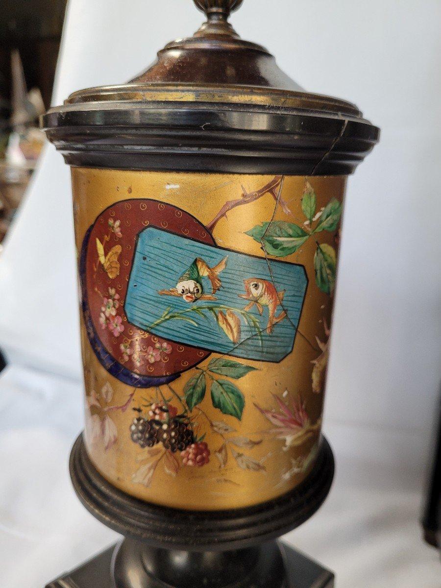 Rare Pendule Et Garniture Marbre Et Bronze Japonisante-photo-2