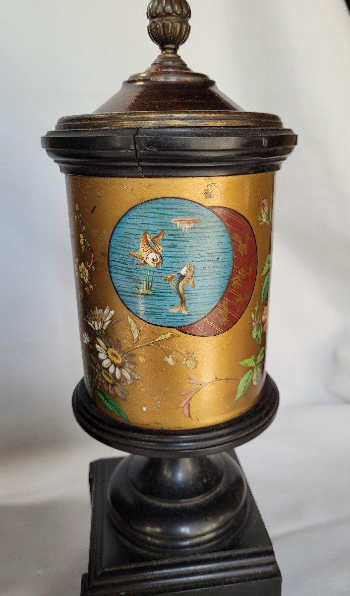 Rare Pendule Et Garniture Marbre Et Bronze Japonisante-photo-5