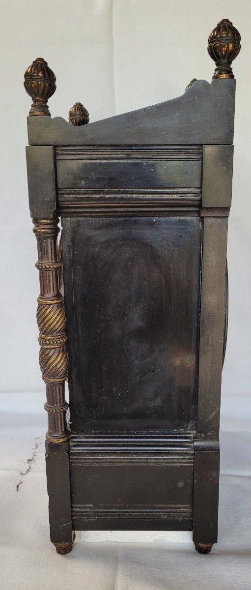 Rare Pendule Et Garniture Marbre Et Bronze Japonisante-photo-6