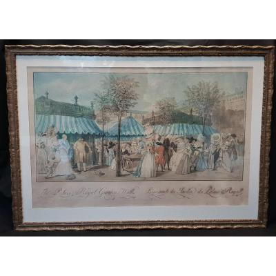 Promenade du Jardin du Palais Royal , Gravure 1787