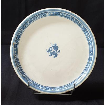 Small Dish, 18th Century Samadet Faience,