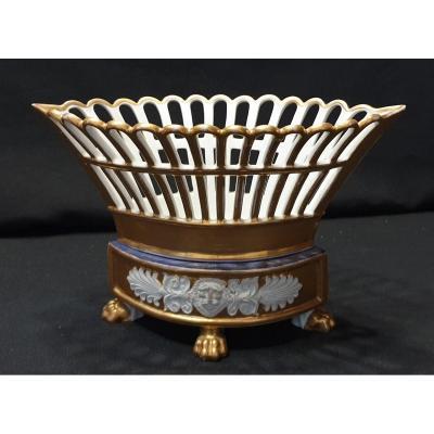 Paris Porcelain Basket, Empire Period