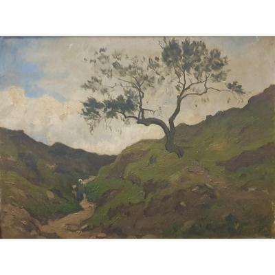 Paul Sébilleau :  Paysage De Montagne