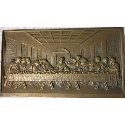 The Last Supper, De Vinci Large Bronze Plate XIX