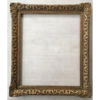Cadre Doré Ancien Format 15f Pour Tableau Peinture 65x54cm