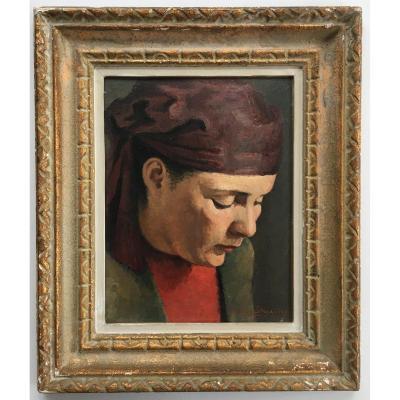Tableau Peinture Portrait De Théodore Strawinsky Peintre Russe Fils Du Célèbre  Compositeur