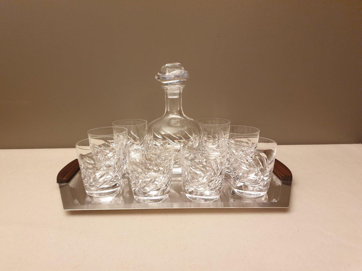 Whiskey Service Lalique France Model Artois