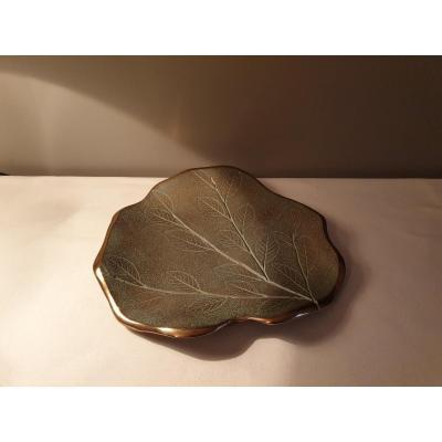 Plat En Bronze Création De Serge Mansau