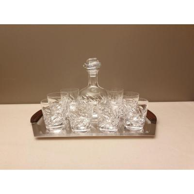 Whiskey Service Lalique France Model Artois