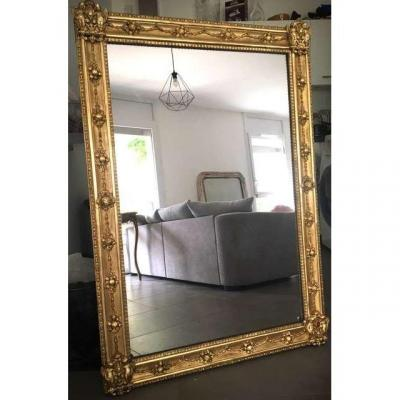 Miroir Doré Charles X Du XIX Eme Siècle
