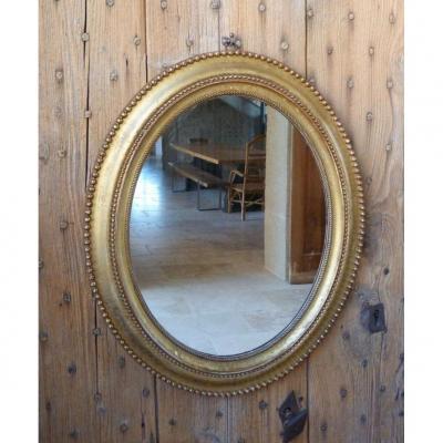 Miroir Doré Ovale Louis Philippe