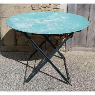 Table Pliante De Jardin En Fer