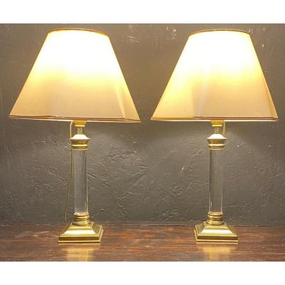 Pair Of Lamps - Le Dauphin - France - XXth