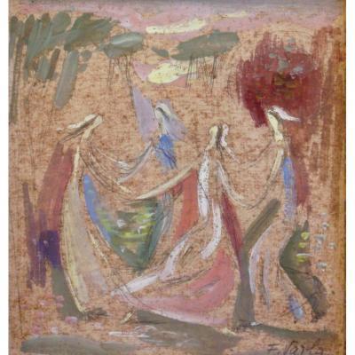 Félix VARLA - Etude pour une tapisserie