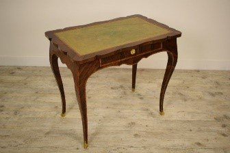 8th Paved And Inlaid Wood Italian Luois XV Writing Desk