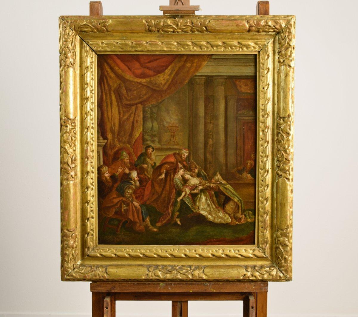L'évanouissement D'esther Devant Assuero, Disciple De Jean-françois De Troy, XVIIIe Siècle