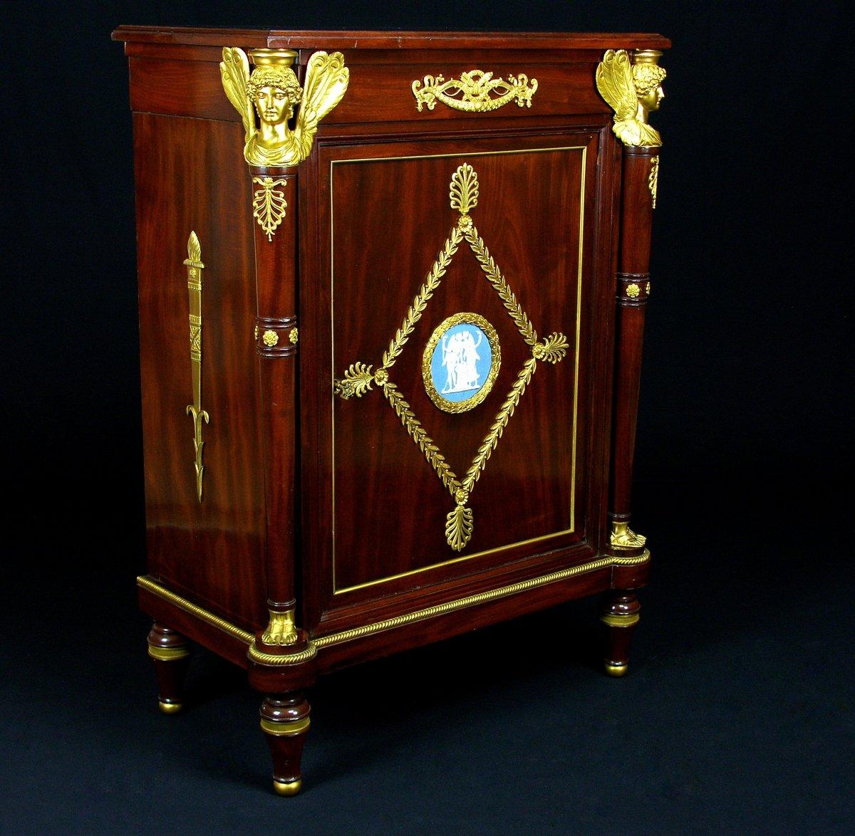 Meuble Cabinet En Bois D'acajou, France, Style Louis XVI, XIXe Siècle