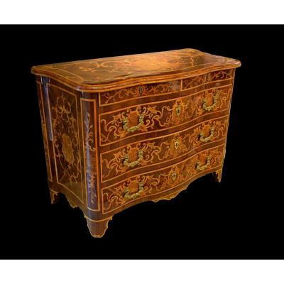 18th Century, Italian Paved And Inlaid Chest Of Drawers
