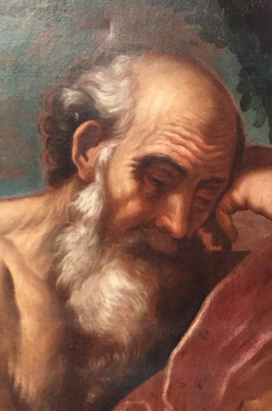 Peintre Italien Du XVIIe Siècle, Saint Jérôme En Méditation-photo-4