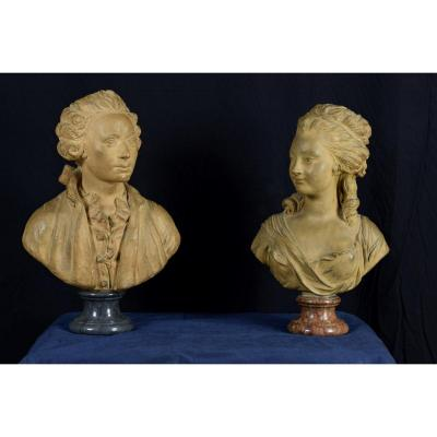 Pair Of Terracotta Busts