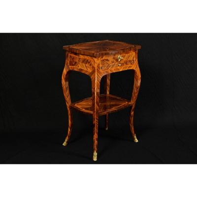 18th Century, Italian Louis XV Violet Wood Coffee Table