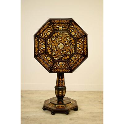 19th Century, Italian Fine Octagonal Sail Plan Center Table By Luigi And Angiolo Falcini