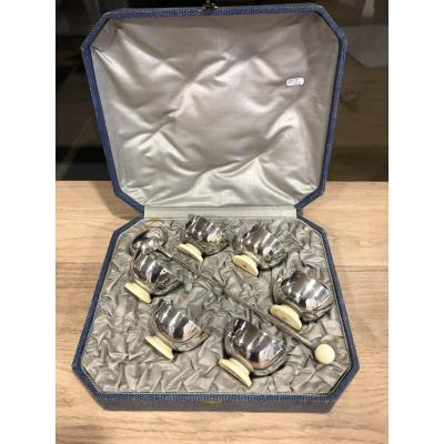 Fruit Service In Syrup In Silver Metal 1930