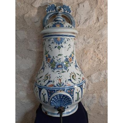 """19th Century Earthenware Fountain From """"rouen"""""""