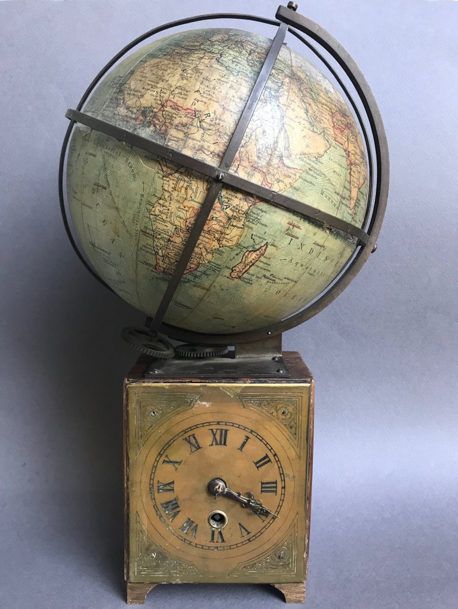 Globe Terrestre, Ludwig Julius Heymann, 19eme Siècle