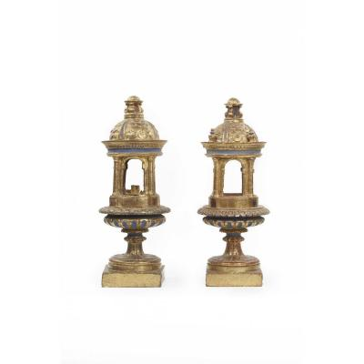 Pair Of Reliquaries, 17th Century