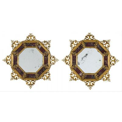 Pair Of Italian Gilt Bronze Frames