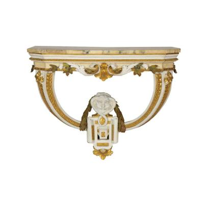 An Italian Painted And Giltwood Console, 18th Century