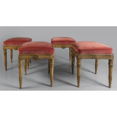 Suite Of Four Louis XVI Stools
