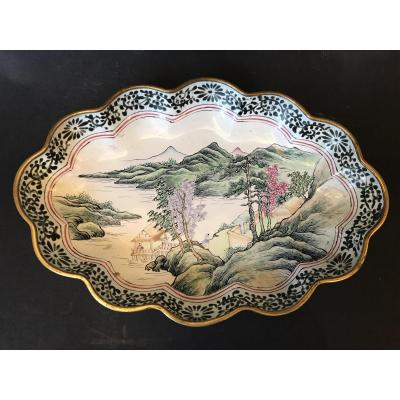 Small Chinese Enameled Dish, 19th Century