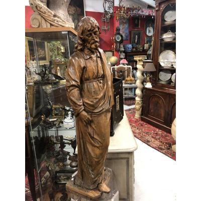 Christ Sculpté En Bois De Tilleul