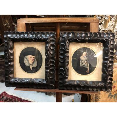 Pair Of 17th Century Portraits