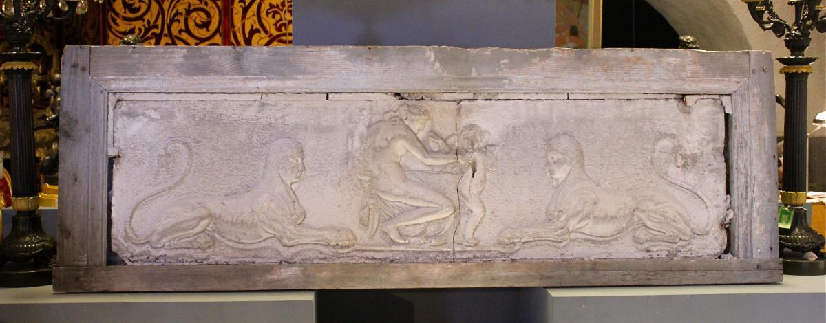Bas Relief En Stuc Et Bois Epoque 1er Empire . XIXeme Siecle
